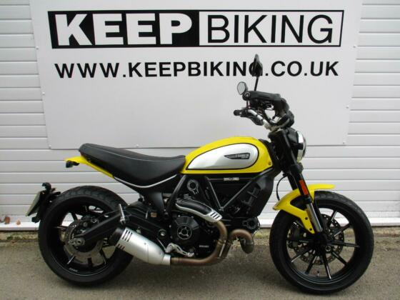 2020 DUCATI 800 SCRAMBLER ICON ABS  425 MILES. 1 OWNER. JUST SERVICED.