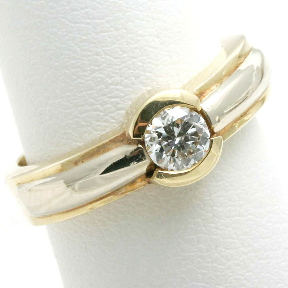 new engagement ring 1 2 carat cut 14k gold