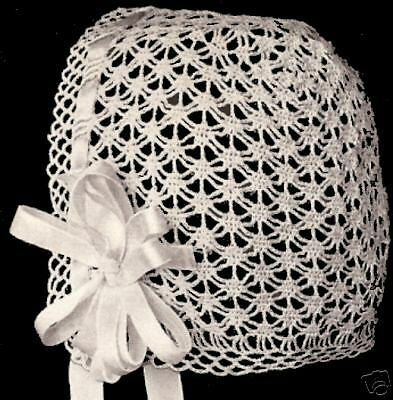 Vintage Antique Baby Cap Hat Bonnet Crochet Pattern Spi Ebay