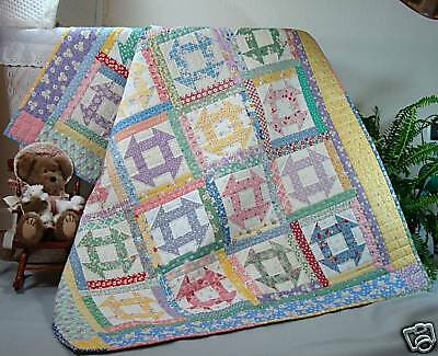 Churn Dash Quilt Pattern Crib And Queen Size Scrappy New