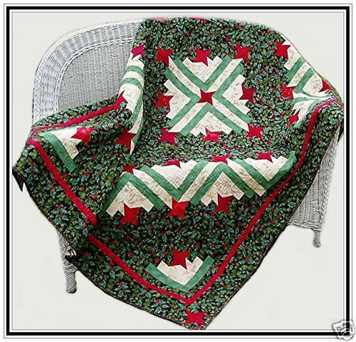Log Cabin Quilt Pattern Free Queen Size : Friendship Log Cabin Quilt Pattern Lap or Twin and Queen Size Holiday #413 eBay