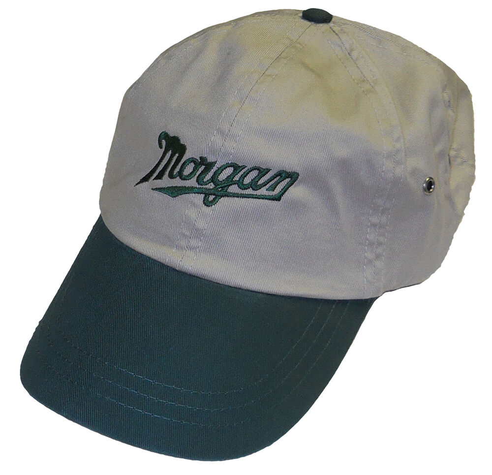 Morgan script embroidered hat ebay