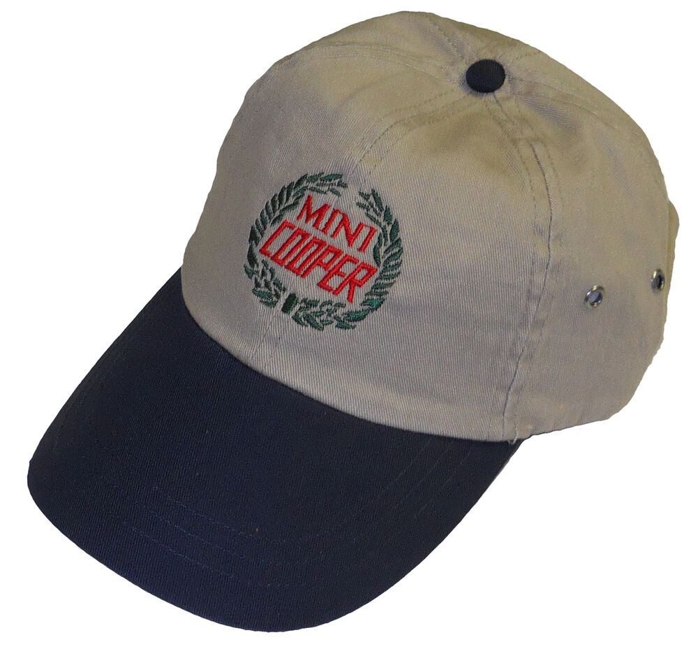 Classic mini cooper wreath embroidered hat ebay