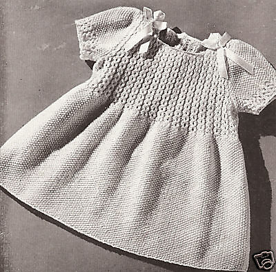 Knitting Patterns For Baby Dresses : Vintage Knitting PATTERN to make Smocked Toddler Coat Hat Dress KnitSmockingS...