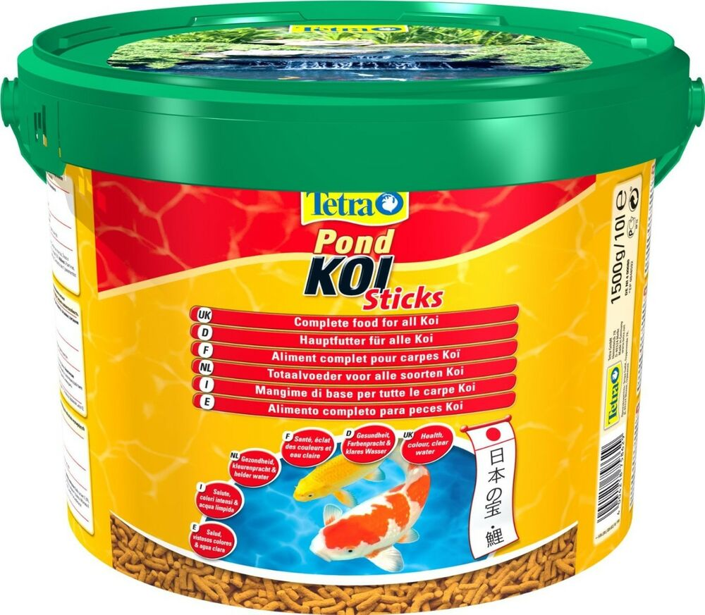 Tetra pond koi sticks 1500g pond food goldfish orfe for Koi pond sticks
