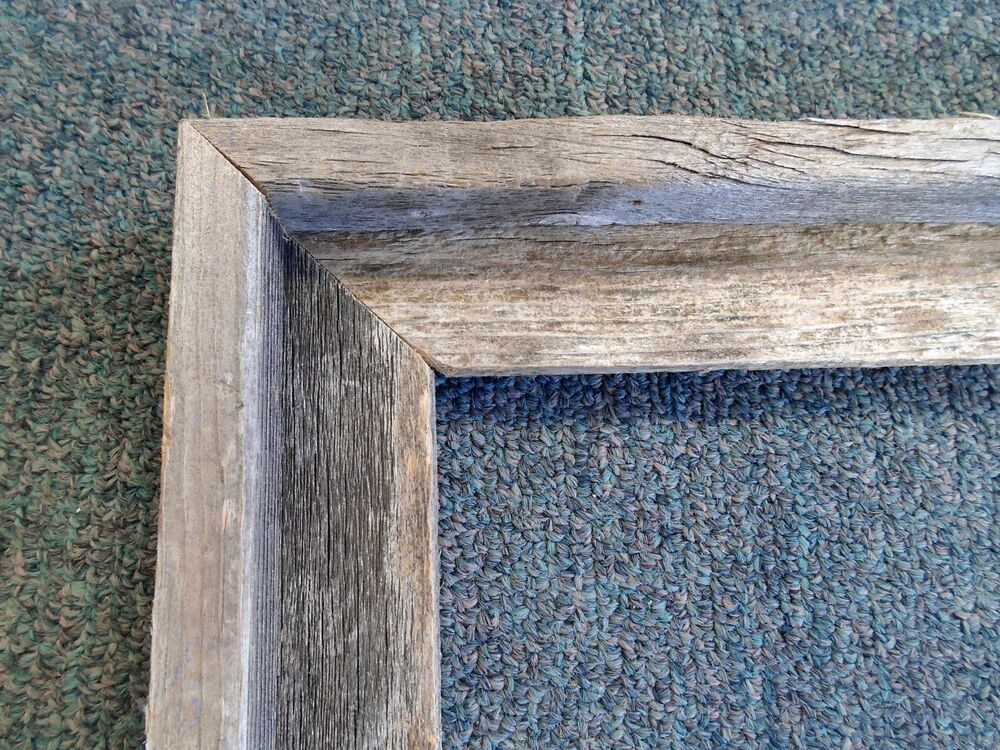 picture frame real authentic rustic barnwood unfinished country style 12 x 16 ebay. Black Bedroom Furniture Sets. Home Design Ideas