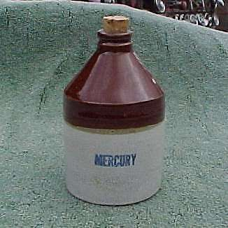 Antique Mercury Crock Jug Bottle U S A Ebay