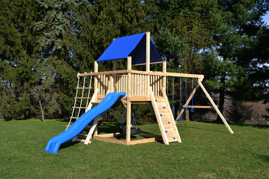 Triumph play systems cedar swing set bailey climber ebay for Tire play structure