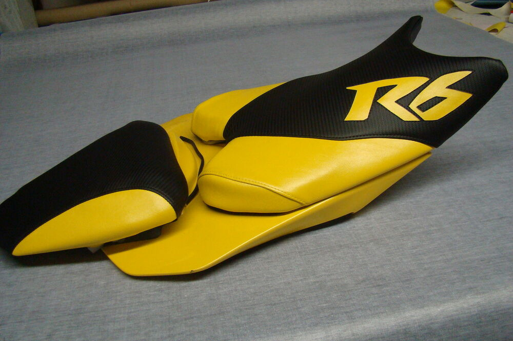 Yamaha 08 9 Yzf R6 Front Seat Cover Black Carbon Yellow Ebay