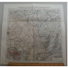 France Germany Belgium Border Map 1881