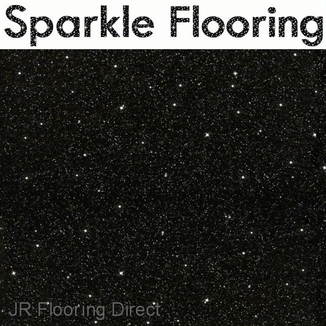 Black Granite Effect Sparkle Vinyl Flooring Floor New Ebay