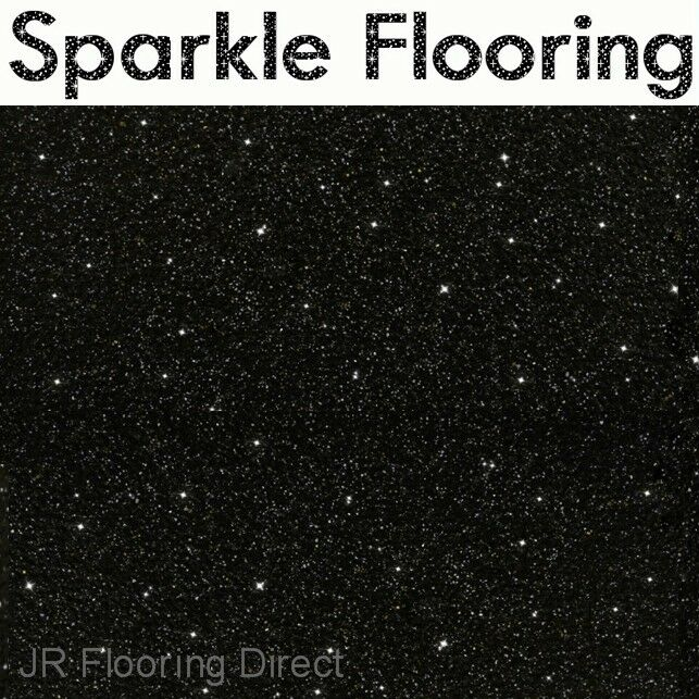 Black Sparkle Kitchen Floor Tiles
