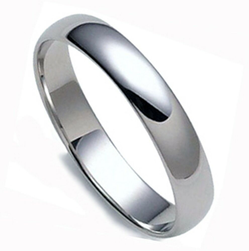 SAVE $700.- MEN'S DOMED SOLID PLATINUM 4 MM WEDDING BAND ...