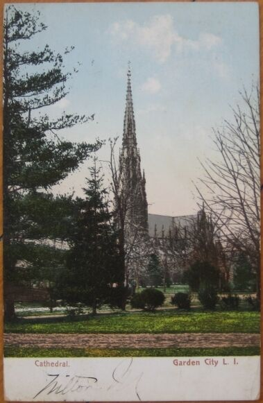 1907 Postcard Cathedral Garden City Long Island Ny Ebay