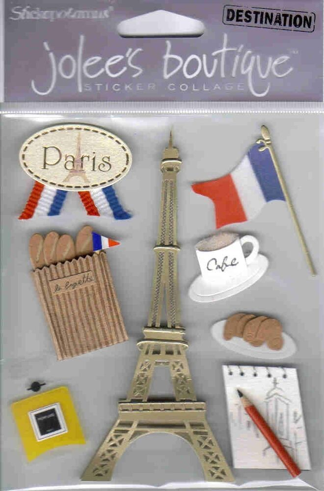 Jolee 39 s paris 3d scrapbook sticker embellishment ebay - Scrapbooking paris boutique ...