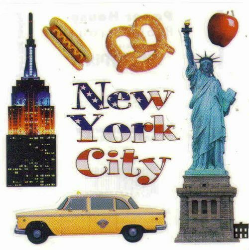 Wedding Gift Stores Nyc: NEW YORK CITY Scrapbook Stickers