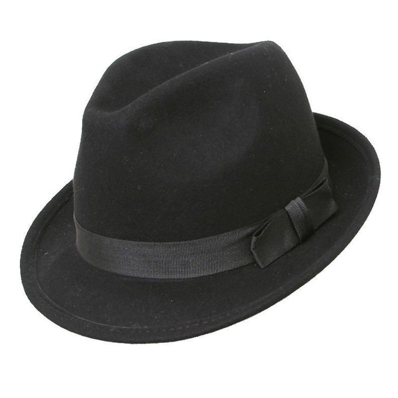 Trilby hats crafted from wool or tweed are the more classic choices for cold months. Showing off your personal style and flair with details like a feather trilby or plaid trilby hat set you apart for basic man.