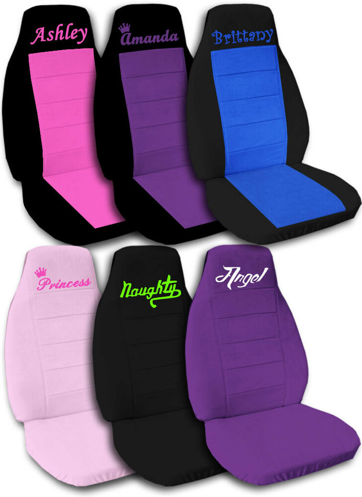 Personalized Car Seat Covers Quot Get Ur Own Design Quot C L Ebay