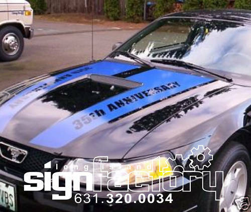 99 04 mustang custom hood stripes decals gt custom ebay for Ebay motors mustang gt