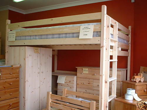Double Loft Bed High Sleeper 4ft Or 4ft 6in 122 137cm