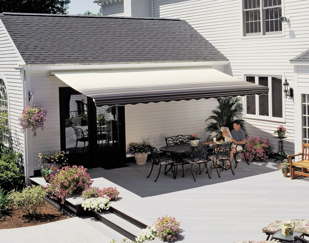 18 ft sunsetter vista retractable awning manual outdoor On sunsetter motorized retractable awnings