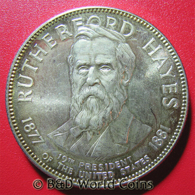 Rutherford Hayes 19th President 98oz Silver Medal