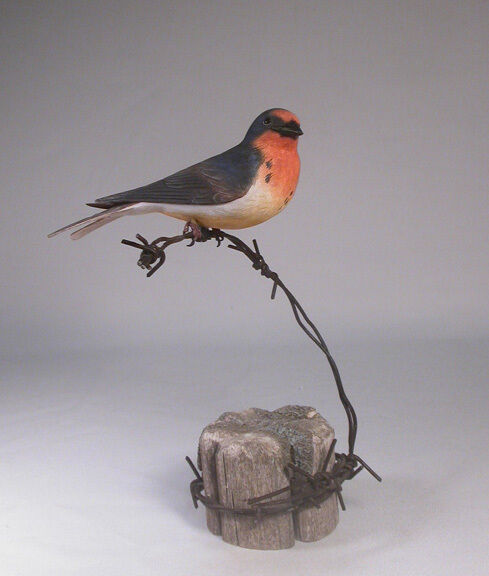 Barn swallow original wood carving birdhug ebay
