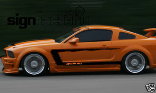 2005 2009 Ford Mustang Custom Side Stripe Decals Gt Ebay