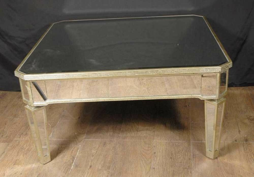 Italian Art Deco Mirrored Coffee Table Tables Ebay
