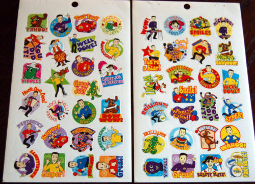 2 New Sheets The WIGGLES Reward Scrapbook Stickers