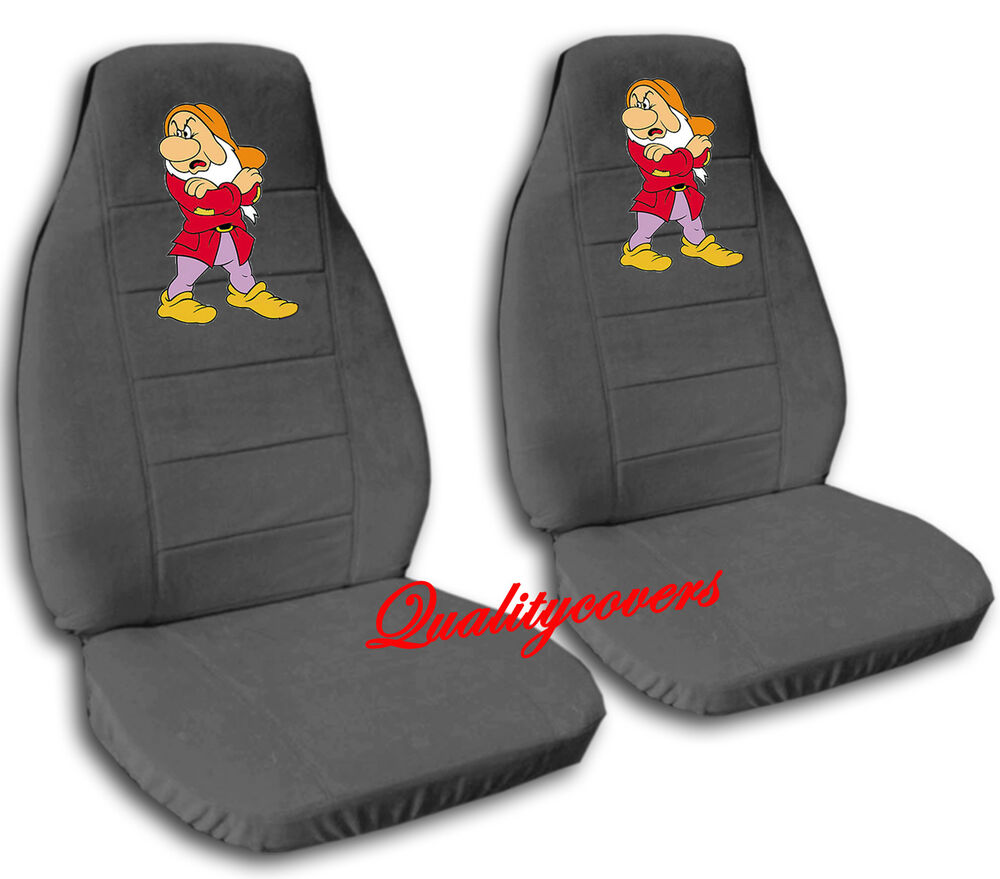 2 Cute Grumpy Car Seat Covers Charcoal Soft Amp Smooth Ebay