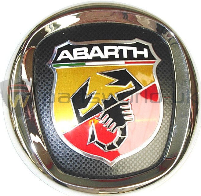 new genuine fiat abarth grande punto front grille logo badge emblem 735495891 ebay. Black Bedroom Furniture Sets. Home Design Ideas