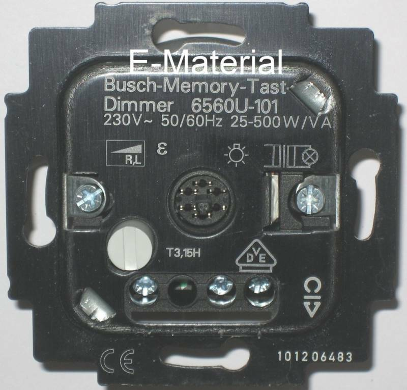dimmer busch jaeger 6560 u 101 memory tastdimmer ebay. Black Bedroom Furniture Sets. Home Design Ideas