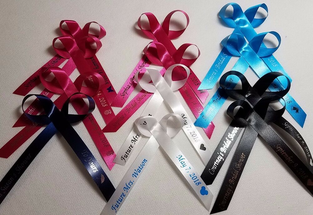 25 personalized ribbons favor assembled baby shower bridal wedding