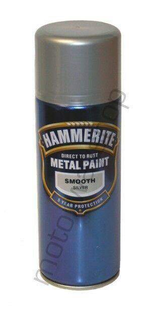 Hammerite smooth silver aerosol spray paint 400ml new ebay for How to make silver paint