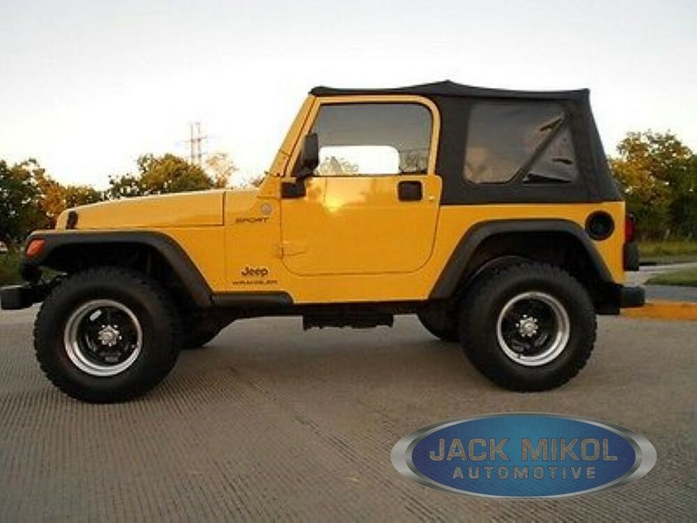 Jeep Wrangler Replacement Soft Top >> 97-06 Jeep Wrangler Replacement Soft Top Tinted 714169892672 | eBay