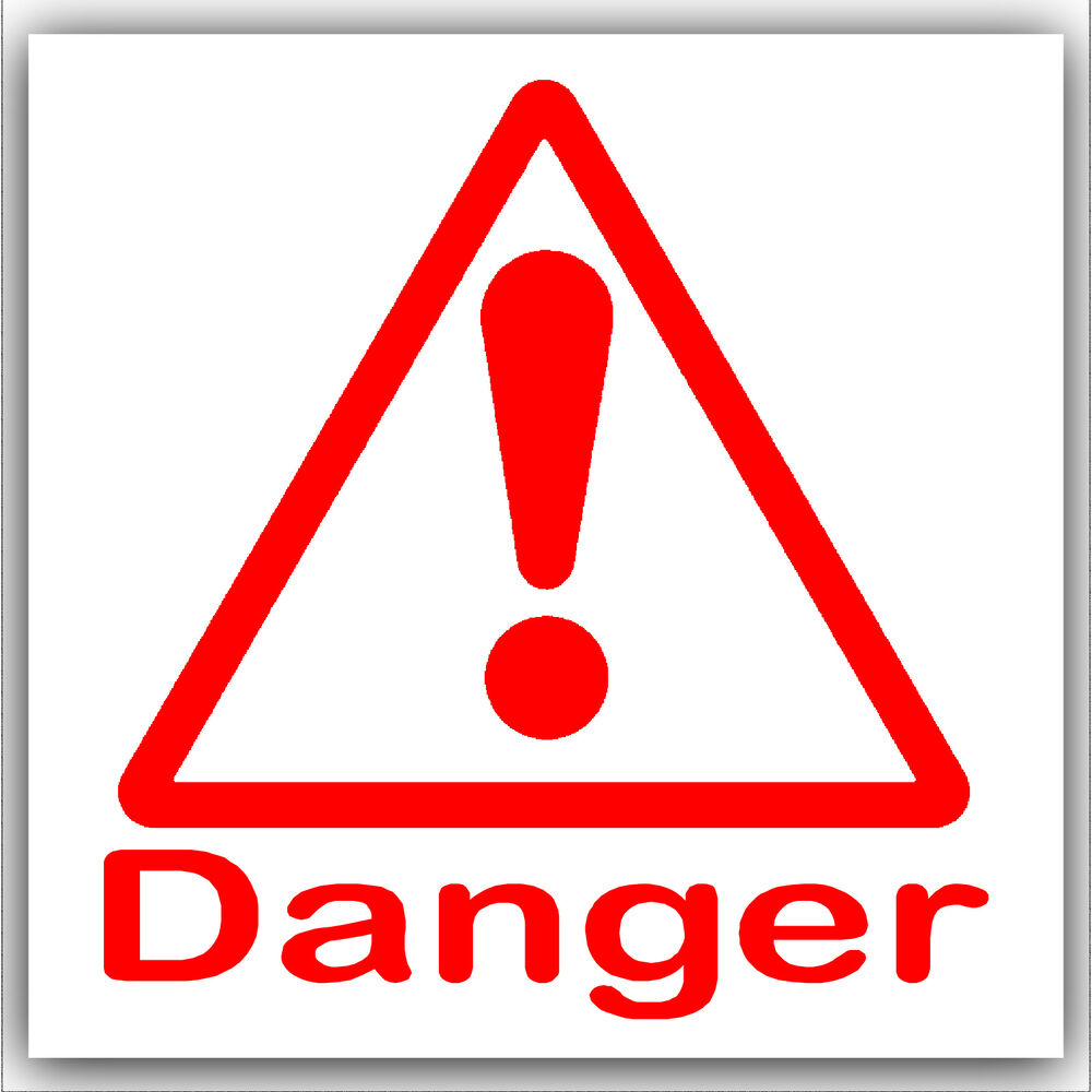 6 X Danger Stickershealth & Safetyself Adhesive Warning. February 9th Signs Of Stroke. Children Signs Of Stroke. Commercial Business Signs. Penance Signs