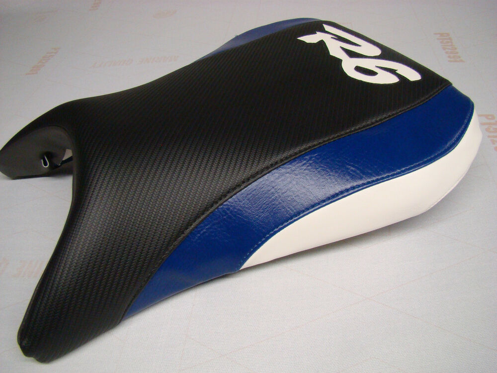 yamaha 99 00 01 02 yzf r6 front seat cover blk blue wht ebay