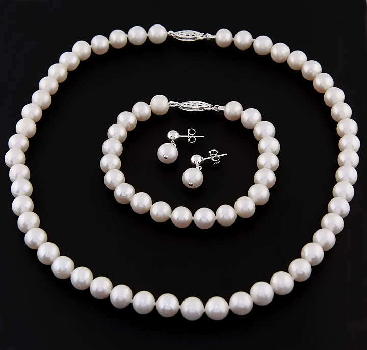 4 5 5 mm freshwater pearl 16 quot necklace jewelry set ebay