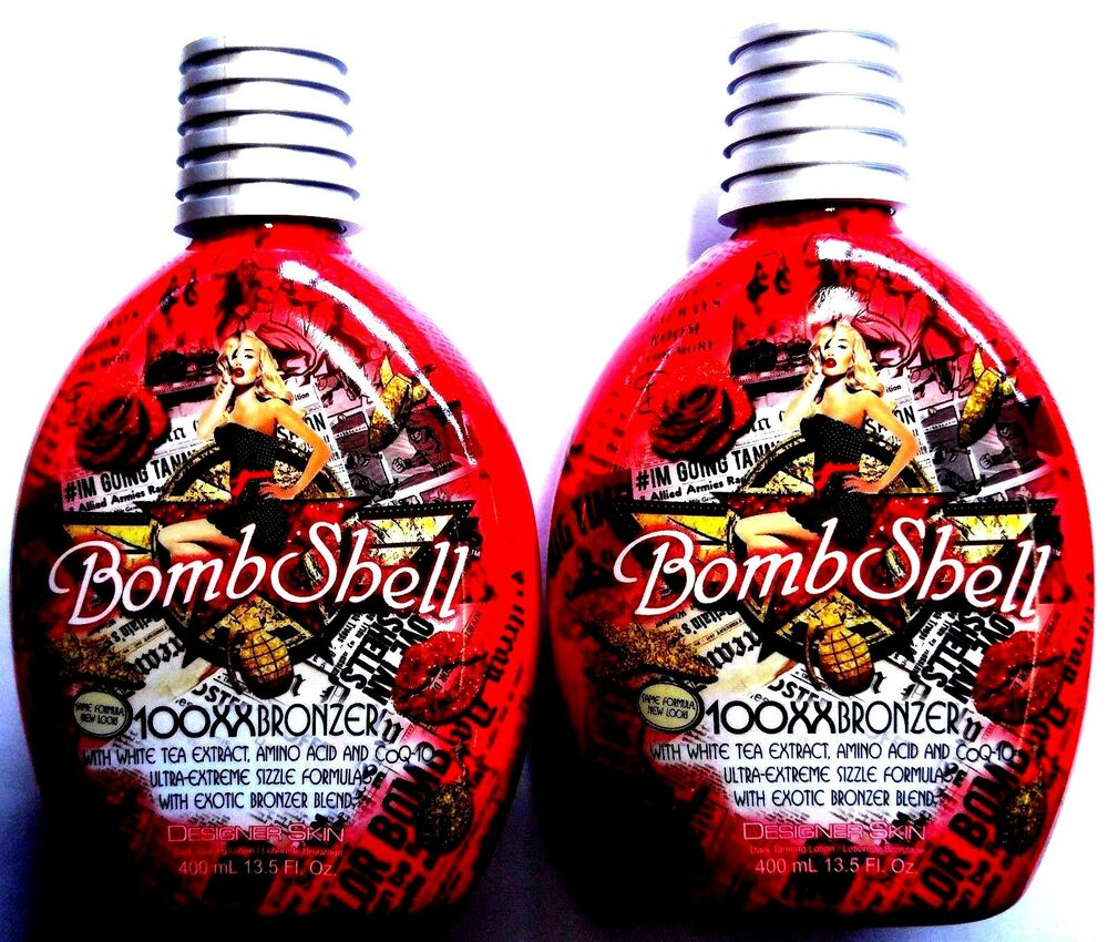 Lot Of 2 Bombshell 100xx Hot Tingle Bronzer Tanning Lotion