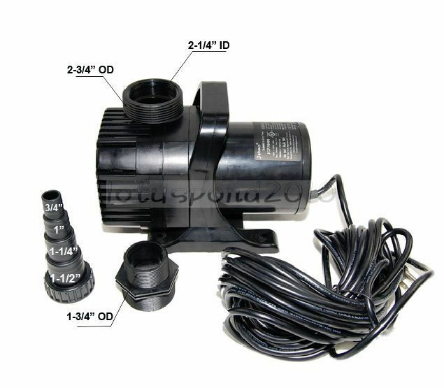 Submersible water fall koi pond pump jgp30000 7900gph ebay for Koi pool pumps