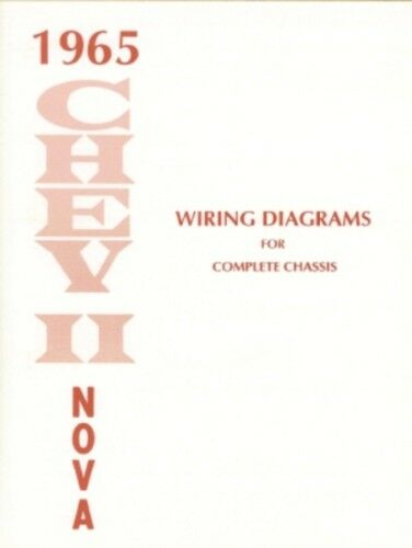 chevy ii  nova 1965 wiring diagram 65 ebay