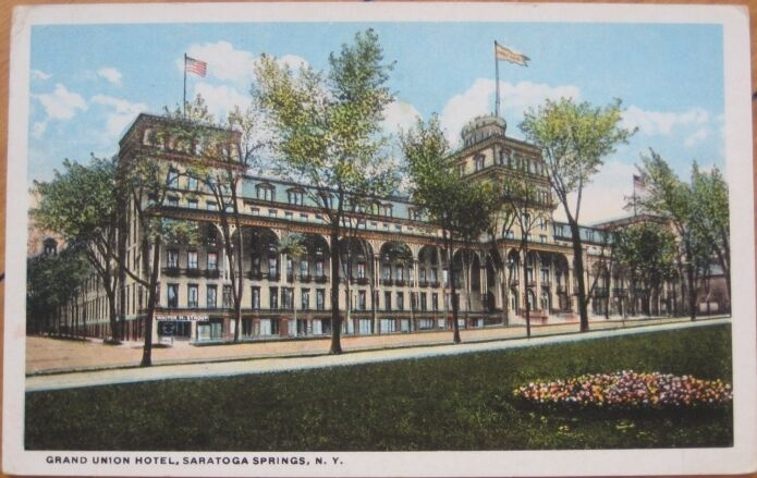 1920 ny pc grand union hotel saratoga springs new york ebay for Hotels saratoga springs new york