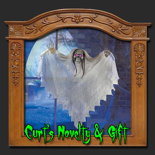 Hanging light up ghost halloween haunted house prop ebay for Animated floating ghost decoration