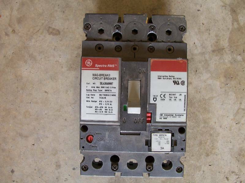 Ge General Electric Sela 36a10007 With 3 Amp Trip Plug Ebay