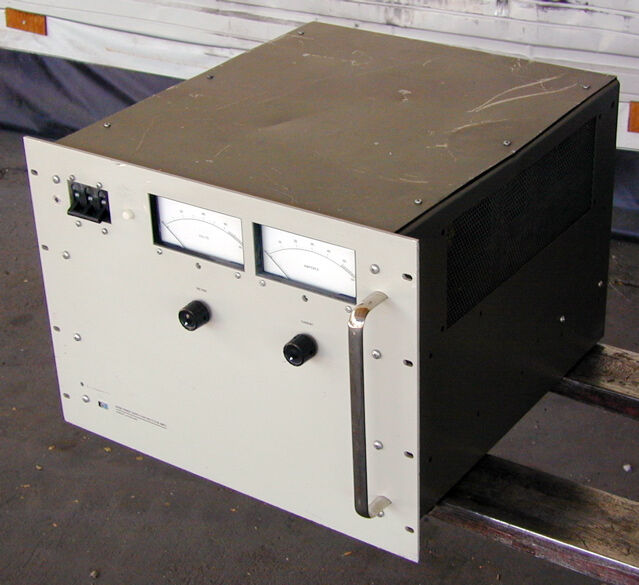Hp 6459a 3kw dc power supply to 64 volts to 50 amps ebay for 75 hp electric motor amps