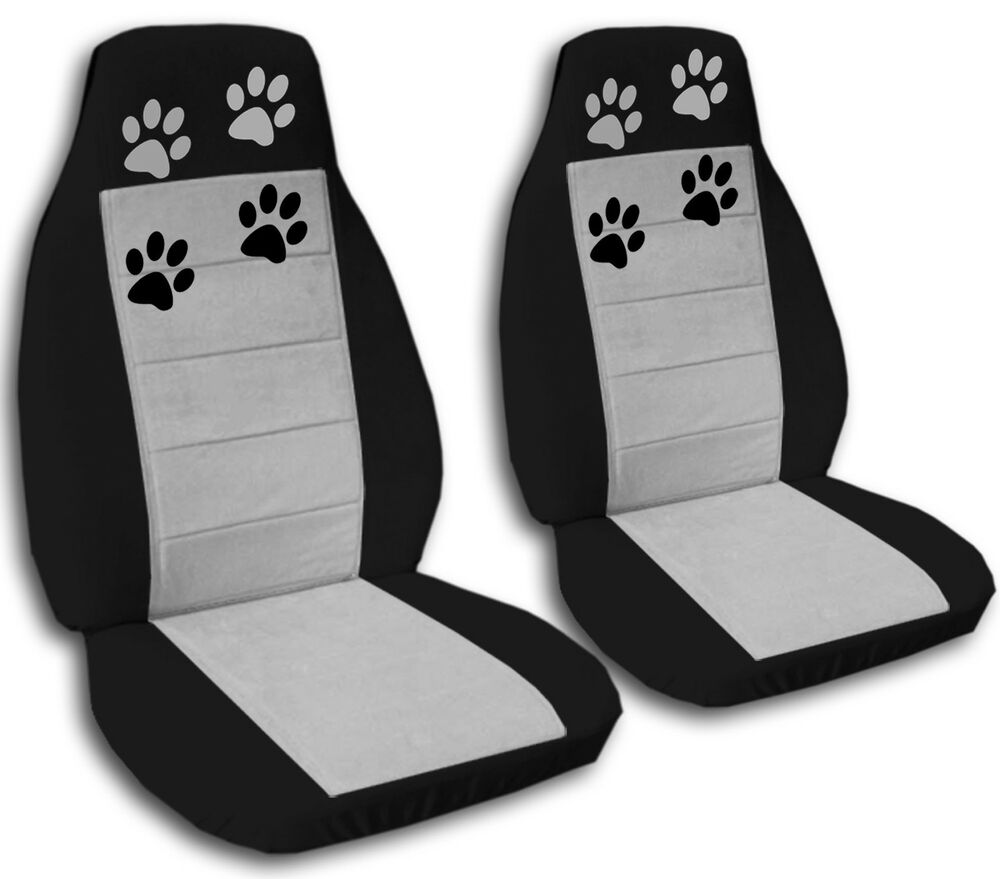 Nice Set Of Paw Prints Car Seat Covers 12colors Choose Ebay