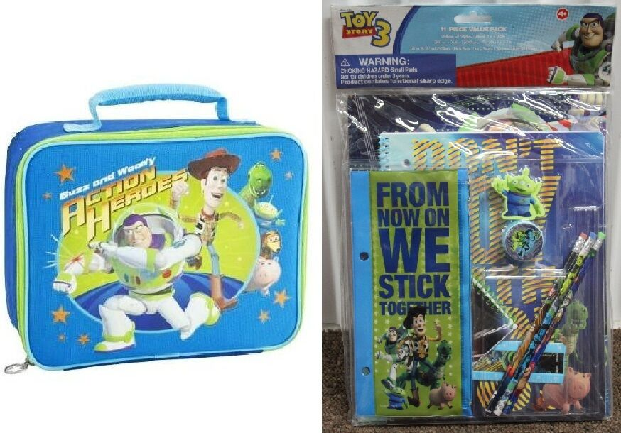 TOY STORY LUNCH BAG Kit Soft Box Buzz Woody Kid Child | eBay