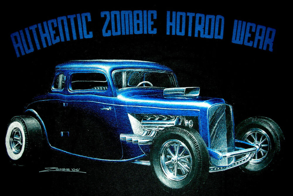 Chevy T Shirts >> Rat Rod Hot Rod Zombie Blue Coupe | eBay