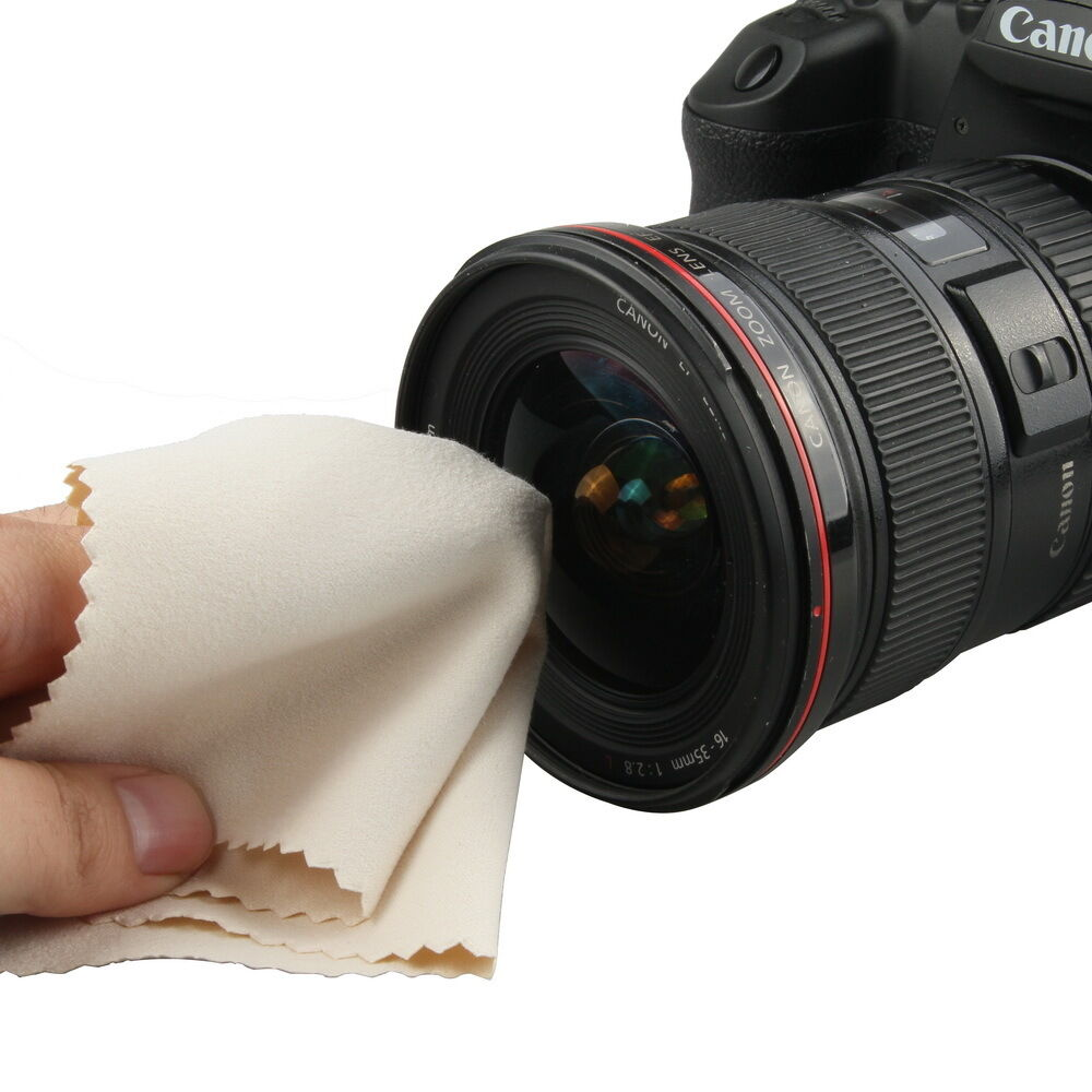 Microfiber Cloth For Lenses: GGS Microfiber Chamois Cleaning Cloth For Camera Lens